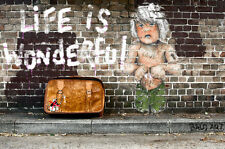 SUPER SIZE A0 POSTER NOT A BANKSY ANDY BAKER STREET LIFE IS WONDERFULL GRAFFITI