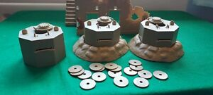 Airfix 1 32 soldiers Pill boxes Bases and discs.Desert Combat Set.