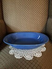 Longaberger Pottery Woven Traditions Serving Cornflower Blue Bowl~Get Together