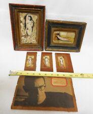 MID-CENTURY MINIATURE NUDE FEMALE PAINTING LOT BY LISTED ARTIST RICHARD LORTZ