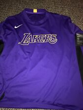 Los Angeles Lakers 19/20 On Court Nike Player Long Sleeve Shooting Shirt XXL