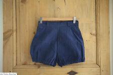 Antique French iINDIGO BLUE shorts CULOTTE panties c 1940