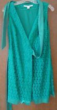 Diane von Furstenberg Sleeveless ....Wrap Dress..Bright Green.. size 2...