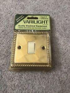 Varilight Solid Brass Light Switch Vintage Bezel Design RARE