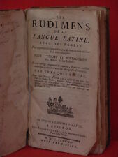 "Livre XVIIIéme,"" Les rudiments de la langue latine"""