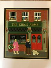 PETER HEARD SIGNED Limited Edition SILKSCREEN 5/300 THE KINGS ARMS LITHO