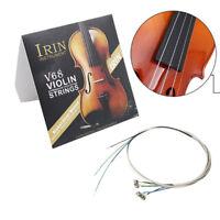 Komplettes Set (E-A-D-G) Violine String Geige Saiten Stahlkern Neusilber WundePD