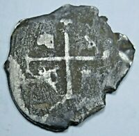 1600's Spanish Bolivia 1 Reales 17th Century Antique Colonial Pirate Cob Coin