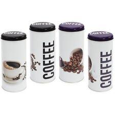 4x Kaffeepad-Dose, verschiedene Dekore, Aufbewahrungsbehälter für Kaffeepads