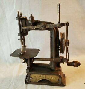 Rare Antique 1890's Smith & Egge Chain Drive Sewing Machine NO Reserve