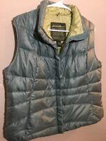 Eddie Bauer Premium Goose Down Womens Large Puffer Vest