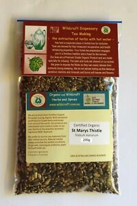 ST MARYS OR MILK THISTLE 200g Herbal Tea Organic Silybum marianum Herb seed