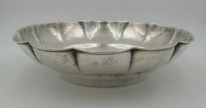 Beautiful Antique 1920s German 830 Silver Hand Hammered Designer Bowl