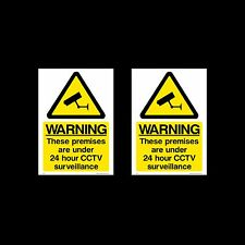 CCTV Sign, Sticker Pack of 2 - 100mm x 150mm (A6) - Security, Camera - (MISC12)