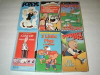 KIDS CLASSIC CARTOONS 6 TAPE LOT VHS RARE, OOP, HTF LOT # 2