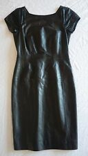 ~ $4.5K GUCCI BLACK LEATHER PERFORATED CAP SLEEVE DRESS (TOTAL SCORE!)~ 38