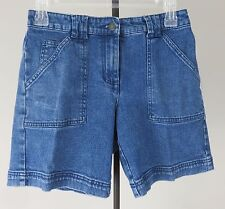 Charter Club Women's Blue Denim Katherine Fit Shorts Size Petite 2P