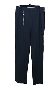 Moschino Men's Navy Blue Casual Pants Button Fly Size 48 (32 US) Made In Italy