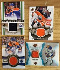 Edmonton Oilers jersey lot of 4  TALBOT  EBERLE  LUCIC  SCHULTZ   free s/h