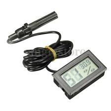 New Black LCD Digital Thermometer&Hygrometer Humidity Temperature Monitor Gauge