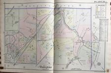 1916 Montgomery County, North Pa, Abington, Rydal, Reproduction Plat Atlas Map