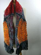 Pañuelo de seda seidenstola plisado Estola bufanda multicolor s-005