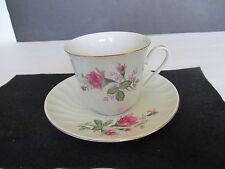 Decorative English China Tea Cup & Saucer Roses & Gold Trim. Beautitul