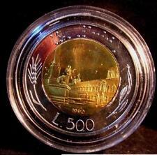 500 Lire Bimetallico  1990  Proof Fondo Specchio