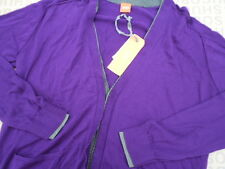 NEW HUGO BOSS MENS PURPLE PULLOVER JEANS SUIT TIE BAG JUMPER CARDIGAN LARGE XXL