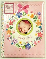 Baby Girl's First Memory Book 5 Year Stepping Stones Flower Wreath Pink 48 Pages