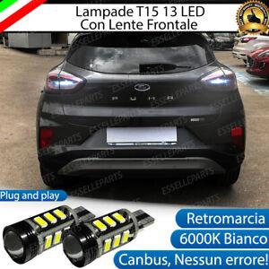 LAMPADE RETROMARCIA 13 LED T15 W16W CANBUS PER FORD PUMA 2 6000K NO ERROR