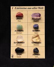 Mineralien Sammlung mit 8 Mineralien, Edelsteine aus aller Welt