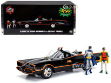 CLASSIC TV SERIES BATMOBILE W/LIGHTS & DIECAST BATMAN & ROBIN 1/18 BY JADA 98625