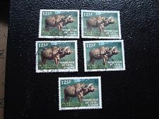 COTE D IVOIRE - timbre yvert/tellier n° 652 x5 obl (A28) stamp (Z)