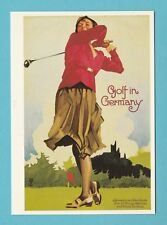 1778  -  PHOTOGLOB  ZURICH  POSTCARD  -  GOLF  IN  GERMANY  -  1931