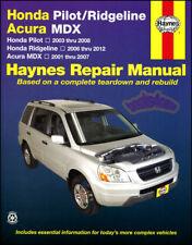 SHOP MANUAL SERVICE REPAIR BOOK HAYNES CHILTON HONDA PILOT RIDGELINE ACURA MDX