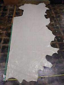 Italian Cowhide leather skin Cow Thin, Bone/very light Beige 27SqFt  2oz 40x85in