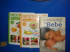Livre TROIS RECETTES DE LIVRES POUR BÉBÉS bouchon dur bonne etat