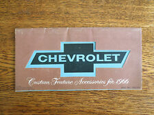 1966 Chevrolet accessories booklet for Corvette Corvair Chevy II & Chevelle
