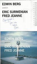 CD  NEUF JAZZ + DÉDICACE ( SIGNED ) EDWIN BERG / PERPETUUM
