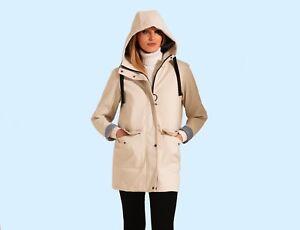 Charcoal Fashion Women's Premium Water Resistant Rubber Rain Coat (05SJ21-C)