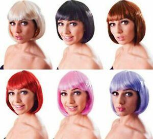 Ladies Fancy Dress 1980s Party Elegant Bob Cut Short Fake & Artificial Wig
