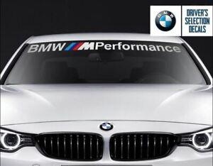 "For BMW Windshield BMW M Performance windows sticker decal 45""x3"" NO BACKGROUND"