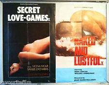 Cinema Poster: SECRET LOVE-GAMES/NAKED AND LUSTFUL 1974 (Quad) Samuel Zacharias
