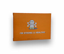 """""""I'm Strong and Healthy"""" Inspirational Quote Artwork Canvas Wooden Frame, 5""""x7"""""""