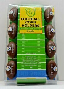 Steelers Football Corn Holders, 8-pack/4 sets, NIB