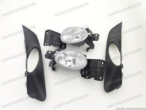 FRONT BUMPER FOG LIGHT LAMP KIT W/COVER For Honda Accord Crosstour 2010-2012
