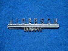 Vintage Original Metal Dealer Name Plate ALDERSON  LUBBOCK