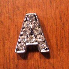 lot de 2 lettres A strass 12x11 mm pour bracelet 8 mm