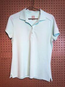 Women's Callaway Opti-Dri Stretch Golf Polo Shirt Size Large Mint Green #21